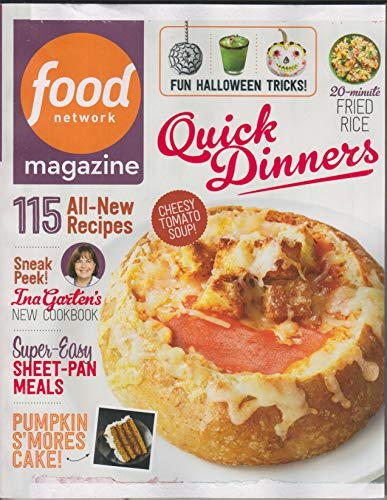Food Network October 2018 Quick Dinners - 115 All-New Recipes for $<!--$5.75-->