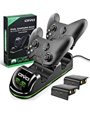 Xbox One/S/X/Elite Controller Charger, OIVO Fast Dual Charging Station Updated LED Stap, Remote Charger Dock - 2 Rechargeable Battery Packs Included