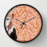 Ore No Imouto Ga Konnani Kawaii Wake Ga Nai Kousaka Kirino Girl Maid Pin Black Frame 10 Inch Wall Decoration Wall Clock