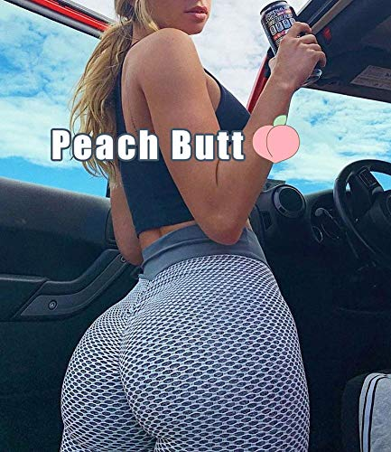 GYMSPT High Waisted Yoga Pants for Women Butt Lift Ruched Scrunch Butt Leggings Workout Tummy Control Booty Tights