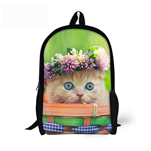 Cheap FOR U DESIGNS Kawaii Kitty Cat Face Printing Women Backpacks Girls School Bags