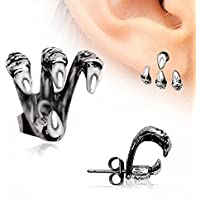 """""""Trident Triple"""" Claw Earring 316L Stainless Steel (Sold Individually)"""