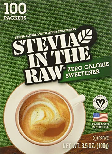 Stevia In The Raw, 100 count Pack of 3