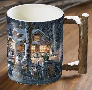Winter Wonderland II Sculpted Mug by Terry Redlin (Winter Mug Wonderland)