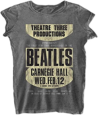 Rockoff Trade The Beatles Carnegie Hall Burnout Camiseta para Mujer