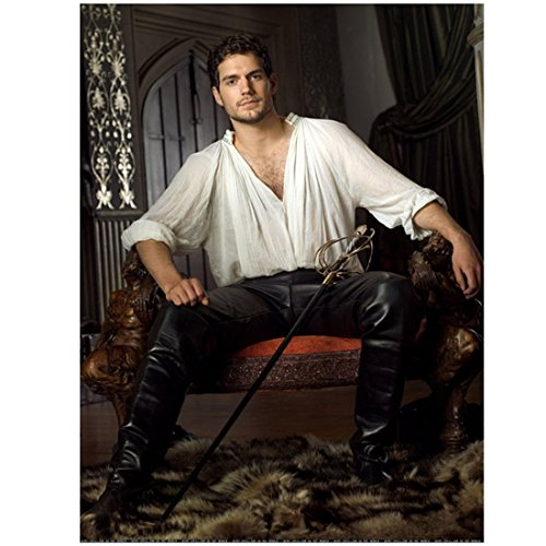 (Henry Cavill 8 x 10 Photo Superman Immortals The Count of Monte Cristo leather pants)