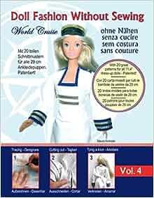 Puppenkleidung ohne Nähen - Vestiti per bambole senza cucire - Roupa