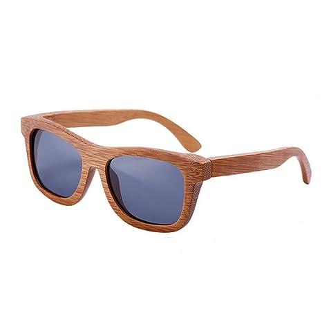 49c2fda85c lzndeal - Gafas de sol polarizadas y unisex, de bambú y con funda,