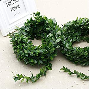 RUICK 7.5 M 295 inches/pcs Artificial Flower Vines Silk Wreath Green Leaves Greenery Fake Ivy Vines Wedding Party Wall Crafts Decor 59