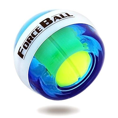 DINOKA Wrist Trainer LED Wrist Ball Powerball Gyroscopic Ball - Arm Strengthener, Wrist & Forearms Exerciser (Blue NO (Wrist Strengthener)