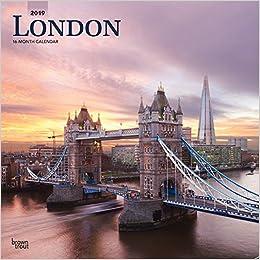 f2c4b521b7ff69 London 2019 12 x 12 Inch Monthly Square Wall Calendar, UK United Kingdom  City (Multilingual Edition) (Multilingual) Calendar – Wall Calendar, June  1, 2018