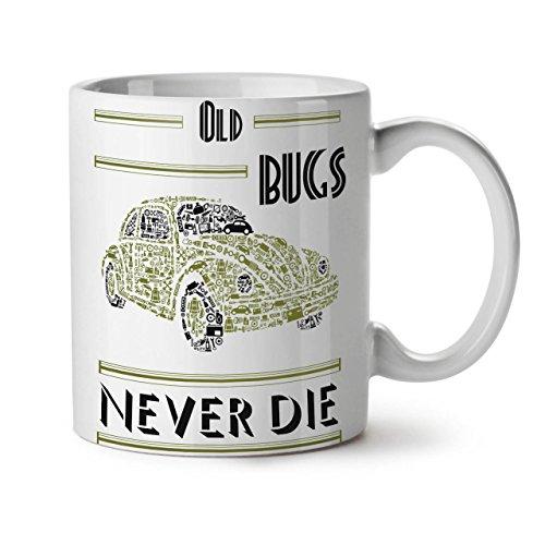 Old Bug Never Die VW Car White Tea Coffee Ceramic Mug 11 | - In Federal Way Commons