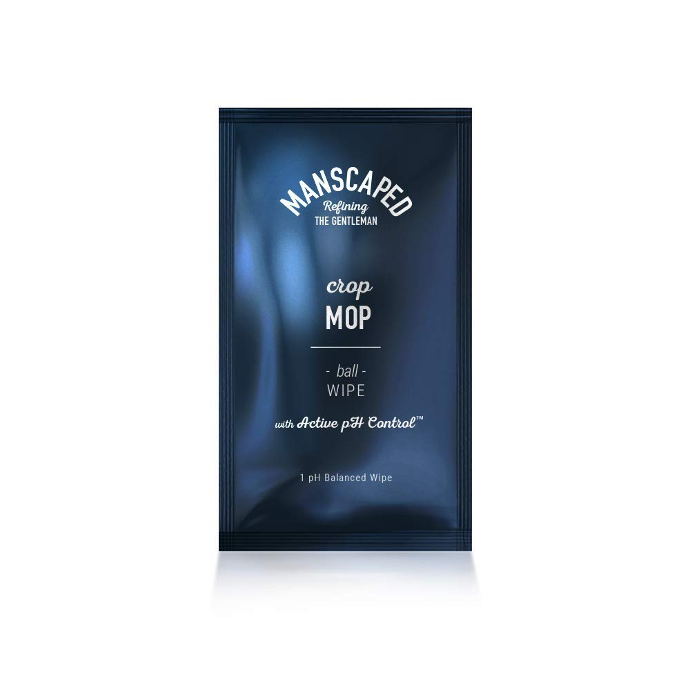 Manscaped Crop Mop: World's First On-The-Go Ball Wipe Individual 15 Pack, Anti-Chafing Protection, Men's Odor Control, Male Hygiene Wipes, pH Balancing, Cleaning Wipe Designed for The Male Groin Area by Manscaped Refining The Gentleman