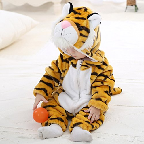 IDGIRL baby girls and boys' Flannel Cotton rompers Tiger-100CM Tiger 19-24 Months by IDGIRL (Image #5)