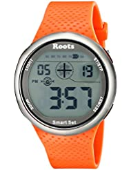 Roots Mens 1R-AT404OR1O Cove Digital Display Quartz Orange Watch
