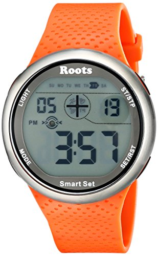 Roots Men's 1R-AT404OR1O Cove Digital Display Quartz Orange Watch (Roots Canada Watch)