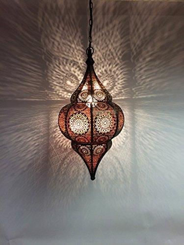 Orientalische Lampe Pendelleuchte Schwarz Malhan 50cm E14