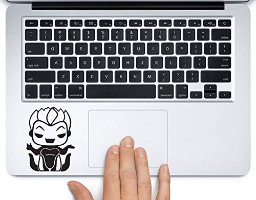 Cute Ursula Disney Little Mermaid Printed Trackpad Clear Vinyl Decal Sticker Compatible with Apple MacBook Pro Air 11