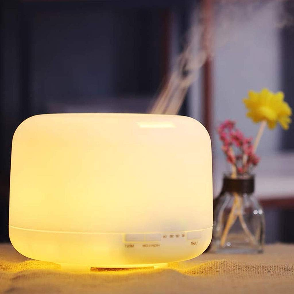 Tai-Lamp Mini Aroma Lamps Essential Oil Diffuser Aromatherapy Machine 500ml Mute Plug-in Warm Light Humidifier Air Purifier Waterless Automatic Shutdown Function [Energy Class A +++] by Tai-Lamp (Image #5)