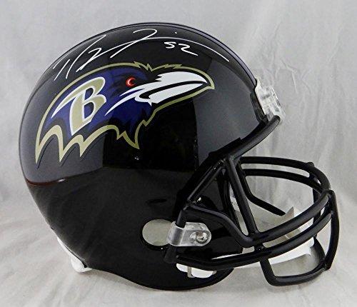 Ray Lewis Autographed Baltimore Ravens Full Size Helmet - JSA Auth White (Baltimore Signature Helmet)