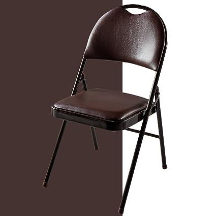Beau Fold Up Chairs Folding Sponge Cushion Backrest Folding Chair Folding  Convenient Computer Chair/conference Chair