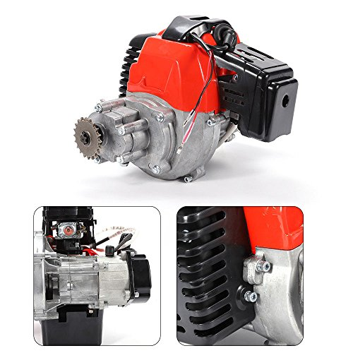 SOFEDY 49cc 2-Stroke Pull Start Powerful Engine Motor for Scooter Pocket Bike Mini Bike Chopper ATV Auto Kid Toy Replacement Parts with Spark Plug US Stock