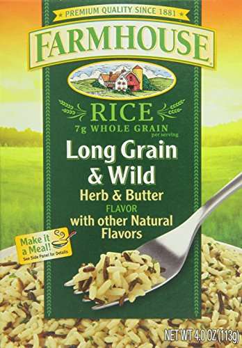 Farmhouse Long Grain Wild Rice, Herb and Butter, 4 Ounce (Pack of 12) by Farmhouse