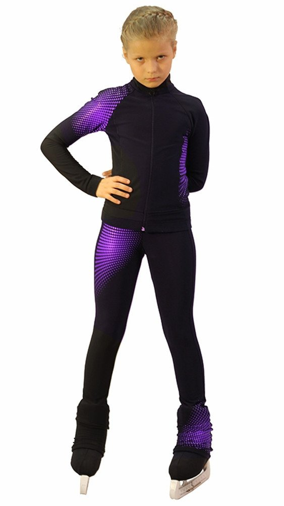 IceDress Figure Skating Outfit -Disco (Black and Violet) (AS) by IceDress