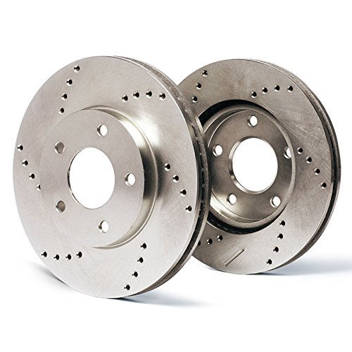ss Drilled Rotors Performance Brake Kit SY009721 | Fits: 2005 05 VW Jetta Wagon GLS Turbo/GLS VR6 / GLX 288mm Dia Front Rotor ()
