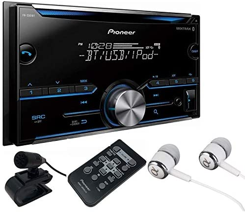 Pioneer FH-X700BT In-Dash Double DIN CD MP3 USB Car Stereo Receiver w Bluetooth, Pandora Link, MIXTRAX iPod Support