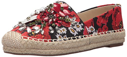 Chinese Laundry Women's Hayden Ballet Flat, RED Floral, 9 M US
