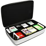 Surdar Large 2300+ Card Game Case Portable Organizer Travel Case for Pokemon, UNO, C. A. H. Card Game, Main Card Game, Crabs Adjust Humidity, Phase 10, Dominion, Munchkins, Joking Hazard (Silver)