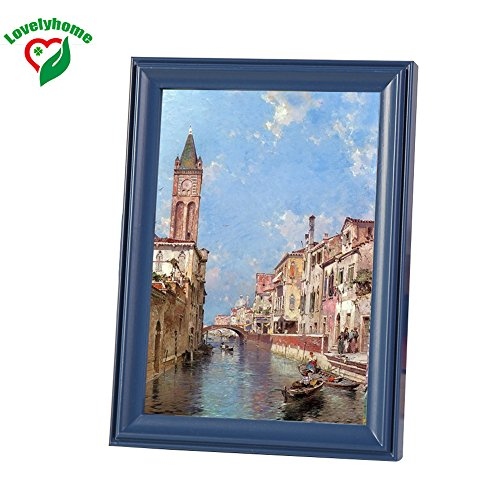 Popular Vintage Picture Frame, 8x10 Inch, Blue Color Family Frames, Wooden Photo Frames, Factory Directly