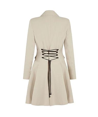 696a7970a22f6 La Crème - Femmes laine et cachemire veste dames hiver double boutonnage  Mimi LONDON manteau 1102-WOOL