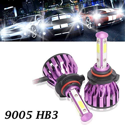 9005 LED Headlight Bulbs 6000K Cool White for High Beam/Fog Light/Low Beam 12000 Lumens Bright HB3 Car Headlamps Conversion Kit (Pack of 2, 2 Year Warranty)