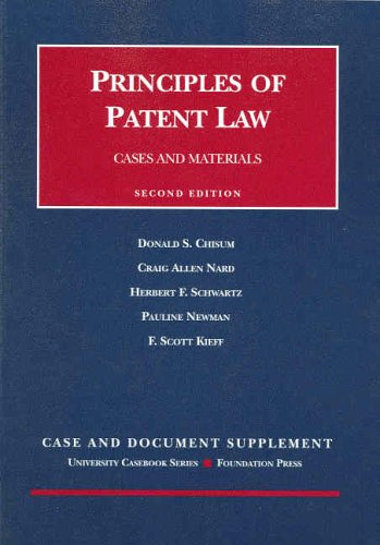 2002 Documentary Supplement to Principles of Patent Law (University Casebook Series)