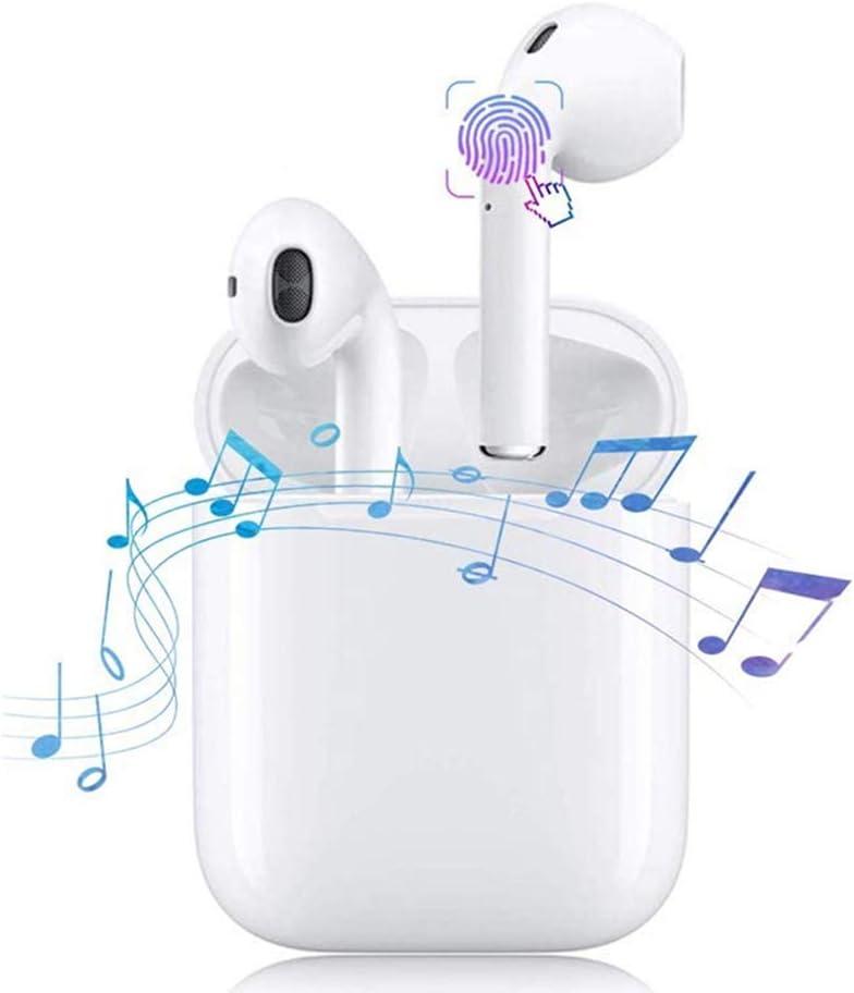 Auriculares Inalámbricos Auriculares Bluetooth 5.0, Auriculares con Reducción de Ruido estéreo 3D, Auricular Inalambrico Impermeables IPX7 Micrófono Incorporado y Cajas de Carga