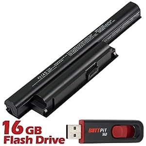 Battpit Bateria de repuesto para portátiles Sony VAIO VPC-EA15FG/P (4400mah) Con memoria USB de 16GB GRATUITA