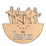 Beatles Figurines natural wood wall clock - Get unique home wall decor - Gift ideas for boys and girls, men and women - Unique Beatles Music Art - Leave us a feedback and win your custom clock
