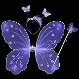Weixinbuy Girls Fairy Wings Butterfly Princess