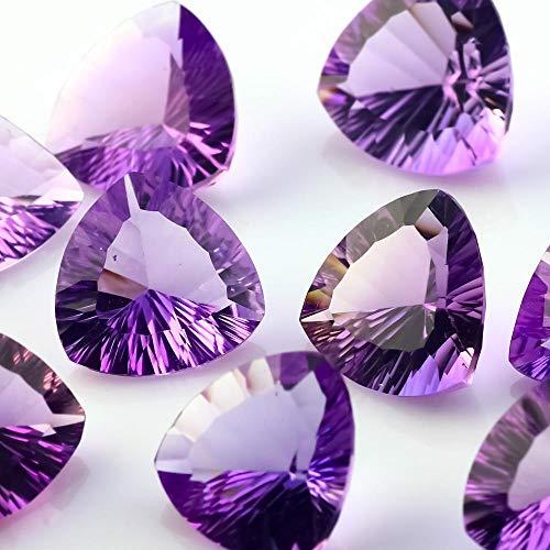 Natural Amethyst Concave Cut Trillion 7MM Top Quality 10 Pieces Purple Color Gemstone