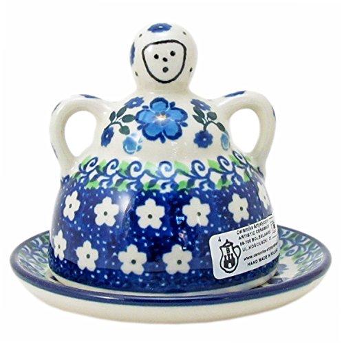 Polish Pottery Mini Cheese (Polish Pottery Handmade 4'' Mini Cheese Lady 112-Spring Melody)