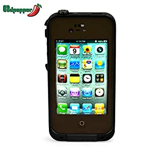 Redpepper Case Waterproof Protection Case Cover for Apple Iphone 4 4S (Army Green)