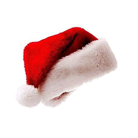 Immagini Cappello Di Babbo Natale.Meiwash Cappello Di Babbo Natale Cappello Di Natale Cappello Di Peluche Di Lusso Bambino Cappello Adulto Forniture Per Feste Di Famiglia Bambino 1