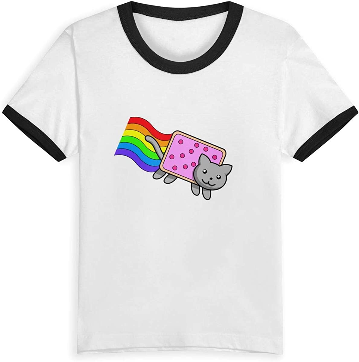 Kids Rainbow Nyan Cat O-Neck T Shirts for Fashion Children Boys Girls Tee Shirt