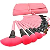 Bestrice Professional Wool Cosmetic Makeup Brush Set Kit Brushes and tools Make Up Case,10 Kinds Of Pink Series (A-24PCS)