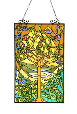 EDEN Tiffany-glass Window Panel 20x32 (Eden Glasses)