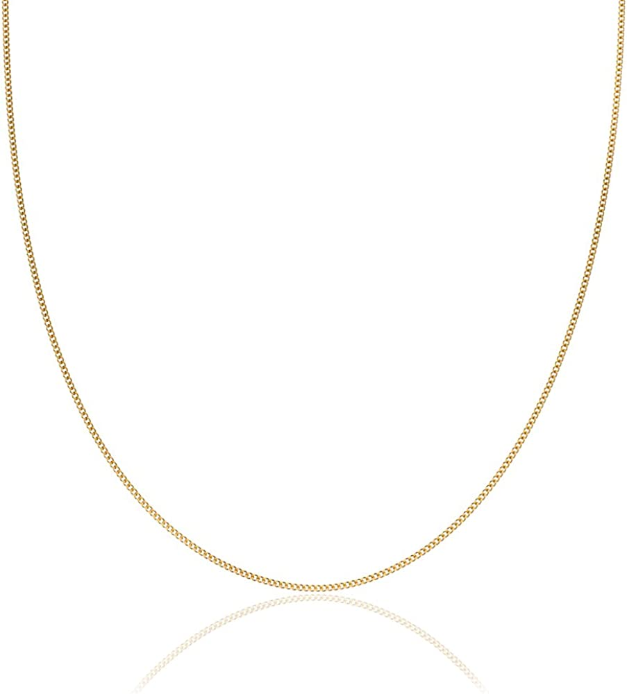 2mm thick 14k gold plated on solid sterling silver 925 Italian diamond cut FLAT CURB link chain necklace bracelet anklet 30 75 45 80 95 15 40 35 85 70 60 50 90 25 65 20 55 100cm