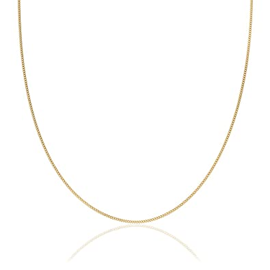 2mm thick 18K gold plated on solid sterling silver 925 Italian diamond cut  FLAT CURB link chain necklace bracelet anklet with spring ring clasp - 6 8