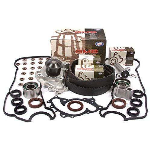 (Fits 95-03 Lexus Toyota 3.0 SOHC 24V 1MZFE Timing Belt Kit w/Hydraulic Tensioner GMB Water Pump Valve Cover Gasket )